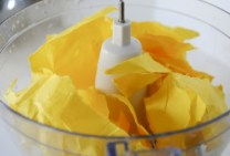 Step 2: Add paper to food processor