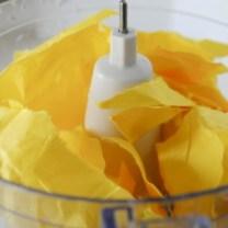 Step 2: Add paper to food processor
