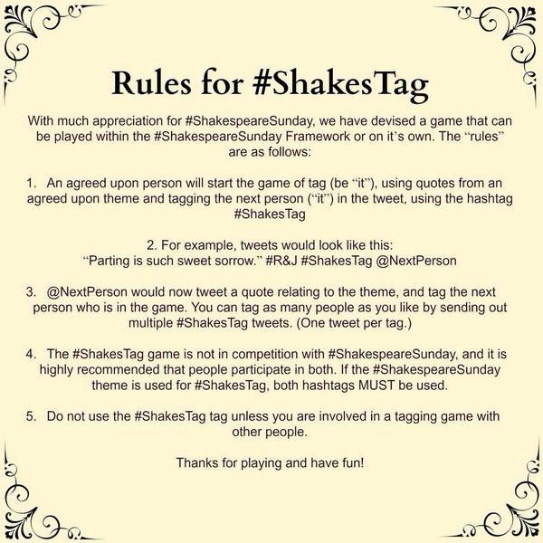 #shakestag rules