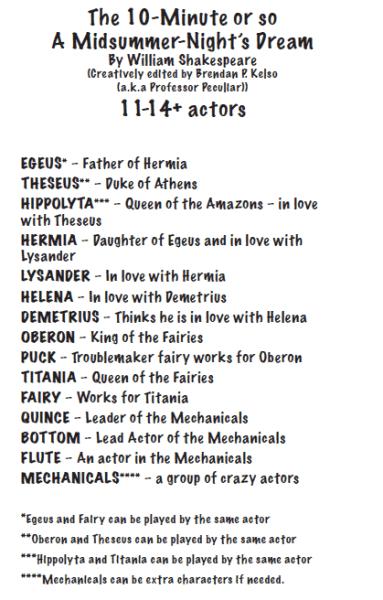 Midsummer characters