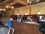 Kell's Brew Pub booths under construction