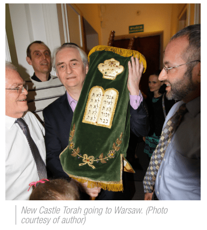 photo: New Castle Torah making it's way to Warsaw