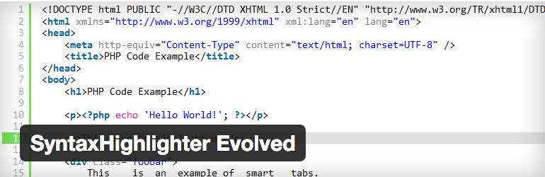 SyntaxHighlighter_Evolved