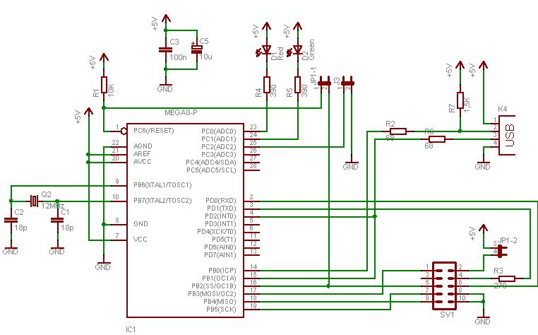 USBasp circuit diagram