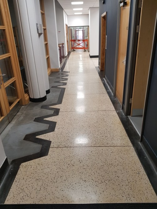 Terrazzo Floor After Restoration Cardiff University