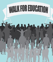 Walking for Education with Dubai Cares
