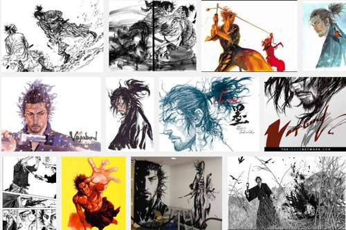 Results of Google search on Vagabond's artwork