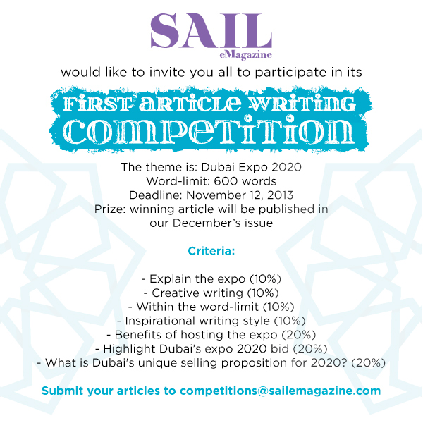 Dubai expo Writing competition