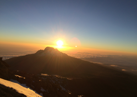 Picture taken by Haleema AlOwais on the top of Kilimanjaro Mountain