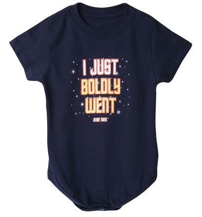 Boldly Went Infant snapsuit from Wireless.com