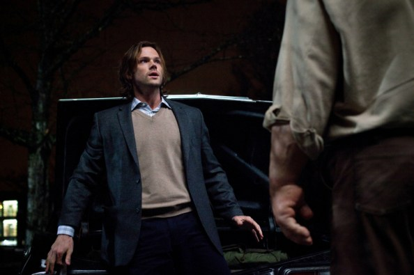 sam winchester confronts a golem