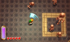 Old school Zelda fans will note the SNES style gameplay