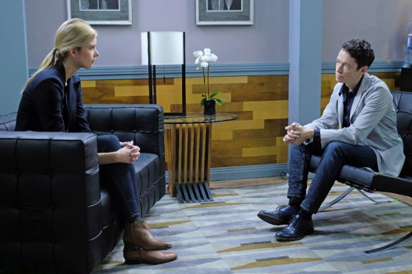 """STITCHERS -  """"Finally"""" - Kirsten goes above and beyond to solve the mystery of a brain researcher's death in an all-new episode of """"Stitchers,"""" airing Tuesday, July 7, 2015 at 9:00PM ET/PT on ABC Family. The Stitchers team investigates a mysterious car accident that resulted in the death of a traumatic brain injury researcher. Meanwhile, Kirsten asks Linus for help deciphering a clue left by Ed Clark as she continues to question Maggie for more information on the origin of the Stitchers program. (ABC Family/Tony Rivetti) EMMA ISHTA, SIMON QUARTERMAN"""