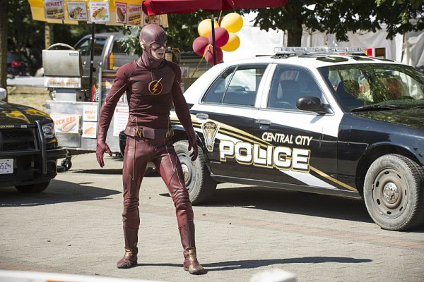 "The Flash -- ""The Man Who Saved Central City"" -- Image FLA201a_0307b -- Pictured: Grant Gustin as The Flash -- Photo: Cate Cameron /The CW -- © 2015 The CW Network, LLC. All rights reserved"