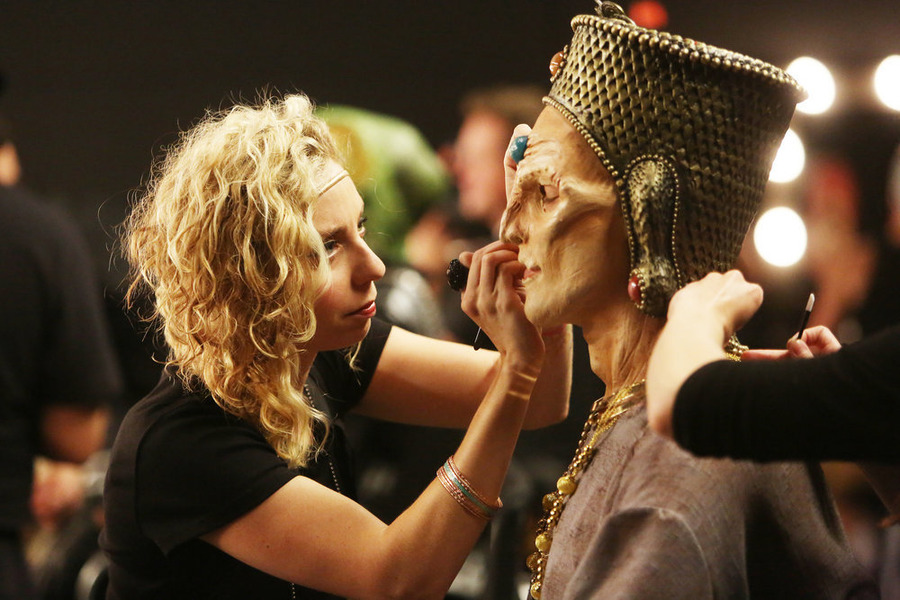 """FACE OFF -- """"Lost Languages"""" Episode 1003 -- Pictured: Anna Cali -- (Photo by: Jordin Althaus/Syfy)"""