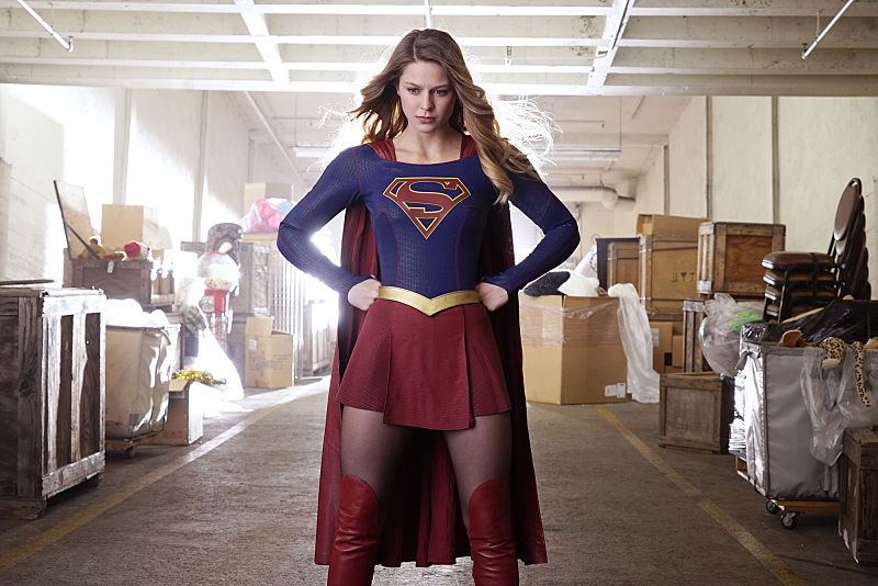 """""""Childish Things"""" -- Kara (Melissa Benoist, pictured) does her best to support Winn when his father, the supervillain Toyman, breaks out of prison and seeks out his son for unknown reasons, on SUPERGIRL, Monday, Jan. 18 (8:00-9:00 PM, ET/PT) on the CBS Television Network. Photo: Robert Voets/CBS ©2015 CBS Broadcasting, Inc. All Rights Reserved"""