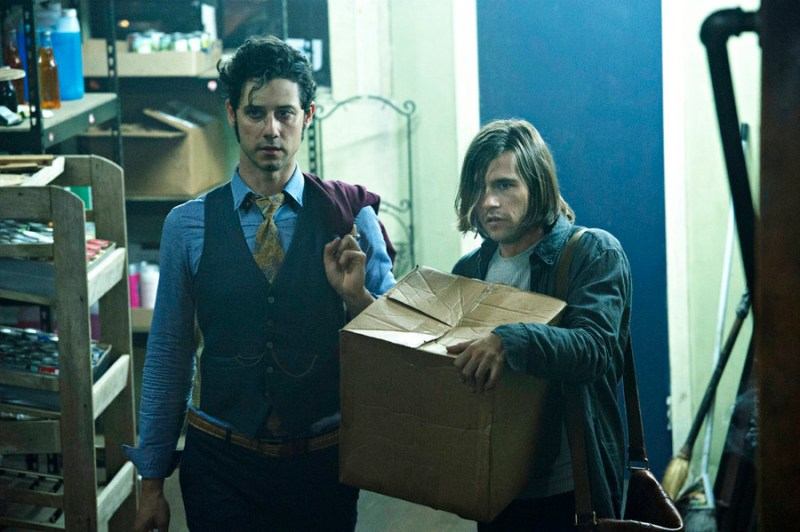 """THE MAGICIANS -- """"Consequences of Advanced Spellcasting"""" Episode 103 -- Pictured: (l-r) Hale Appleman as Eliot, Jason Ralph as Quentin -- (Photo by: Carole Segal/Syfy)"""