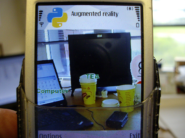 Hackday5 Augmented Reality step 2 - (photo courtesy Ian Hughes - Flickr, under a CC attribution license)