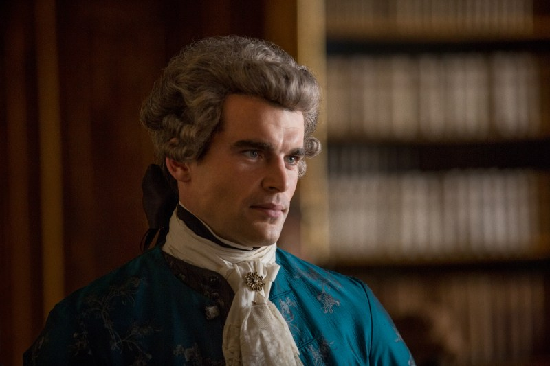 His clothes also remain the fanciest. (Stanley Weber as Le Comte St. Germain)