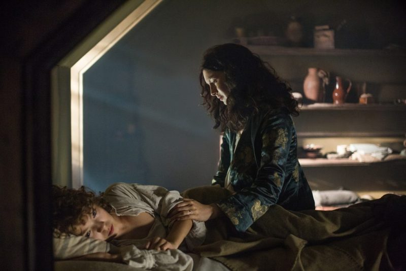 Claire and Fergus (Romann Berrux) also agree that everything is the worst. Claire comforts a crying Fergus