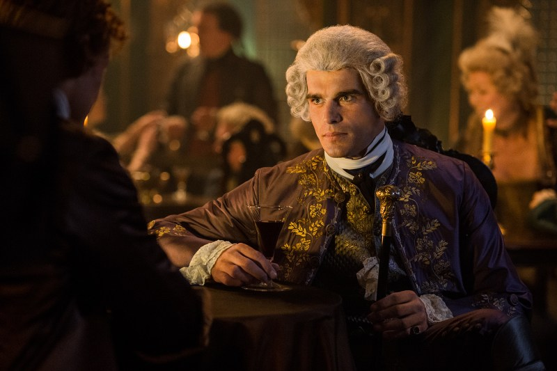 Farewell, Mr. Comte. Your amazing wardrobe and disgusted face may be gone. But they will never be forgotten. (Stanley Weber as Le Comte St Germain.)