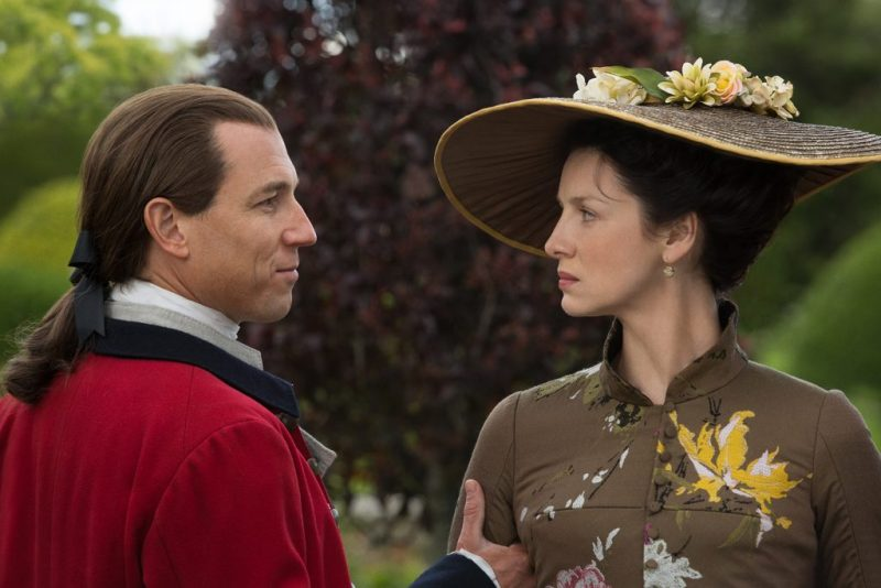 It's killing Jack Randall. Killing Jack Randall is always the right answer. (Left, Tobias Menzies as Jack Randall. Right, Claire Fraser.)