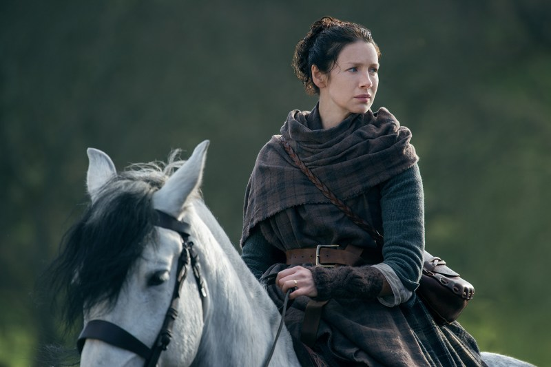 But let's look at this picture of Claire on a pretty horse instead.