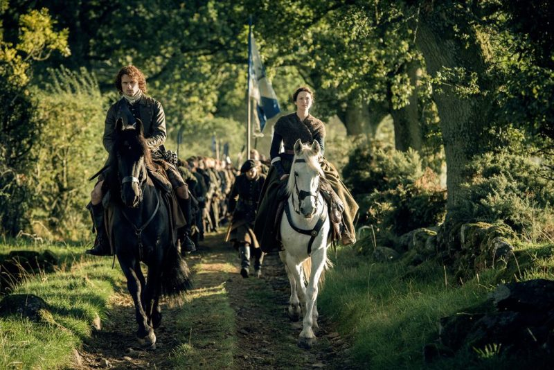 I'm just gonna go live in last episode, where Jamie and Claire rode around looking badass.