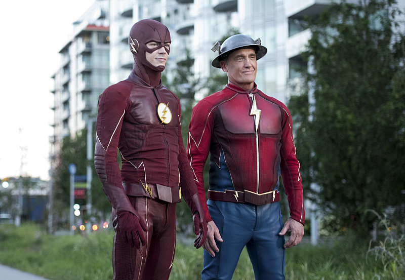 The Flash and The Flash -- a moment 25 years in the making. (Dean Buscher/The CW)