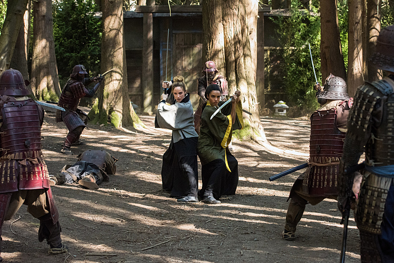 Spa time in feudal Japan. (Dean Buscher/The CW)