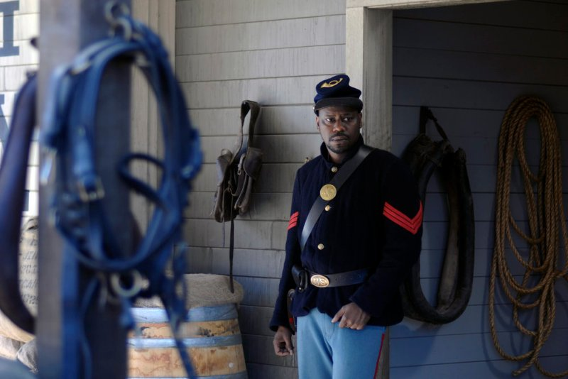 "TIMELESS -- ""The Assassination of Abraham Lincoln"" Episode 101 -- Pictured: Malcolm Barrett as Rufus Carlin -- (Photo by: Sergei Bachlakov/NBC)"