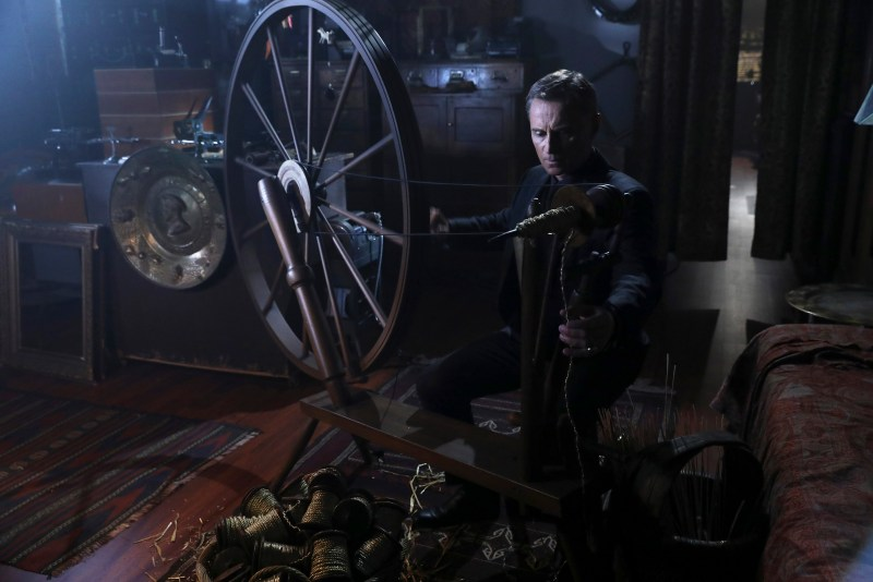 Never trust Rumpelstiltskin when he's doing arts and crafts. (ABC/Jack Rowand) ROBERT CARLYLE