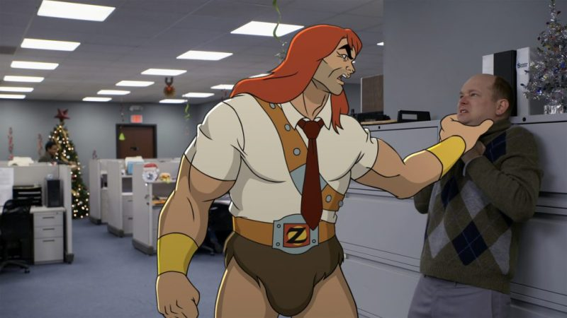 """SON OF ZORN: L-R: Zorn (voiced by Jason Sudeikis) and guest star Mark Proksch in the """"Happy Grafelnik"""" episode of SON OF ZORN airing Sunday, Dec. 11 (8:30-9:00 PM ET/PT) on FOX. ©2016 Fox Broadcasting Co. Cr: FOX"""