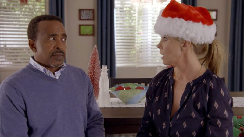 """SON OF ZORN: L-R: Tim Meadows and Cheryl Hines in the """"Happy Grafelnik"""" episode of SON OF ZORN airing Sunday, Dec. 11 (8:30-9:00 PM ET/PT) on FOX. ©2016 Fox Broadcasting Co. Cr: FOX"""