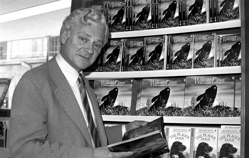 "In this Oct. 18, 1978 file photo author Richard Adams, who wrote ""Watership Down"" in 1972, poses for a photograph. (PA Photo via AP)"