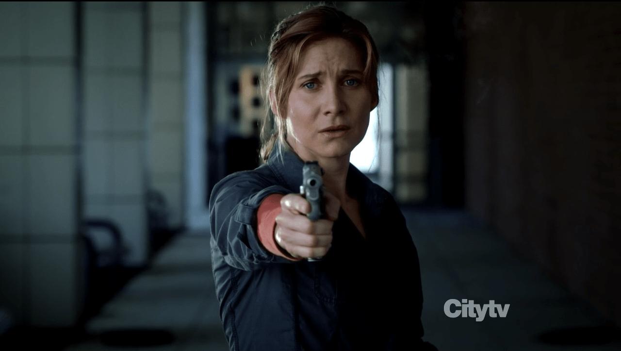 Rachel Matheson (elizabeth Mitchell) shoots man - Revolution