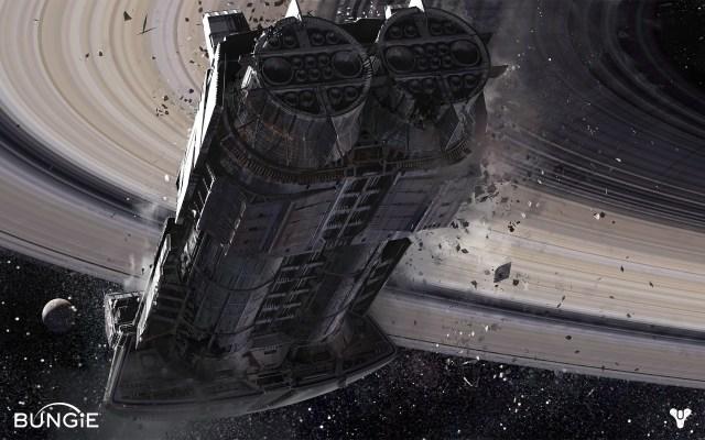 Bungie's Destiny - The derelict Cassini space-cruiser