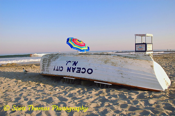 Later afternoon on the Ocean City (New Jersey) Beach