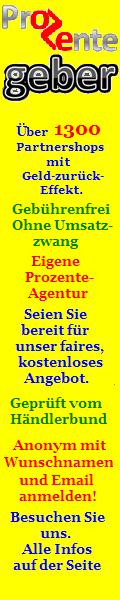 Prozentegeber.com von Shoppingnews24.de