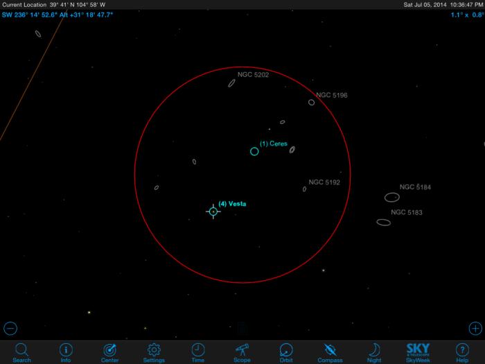 Ceres-Vesta Conjunction on July 5th.