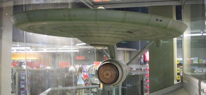 The Original Enterprise model in the National Air & Space Museum.
