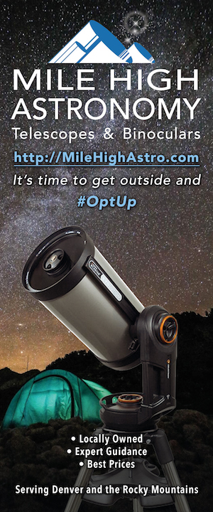 Mile High Astronomy telescope store serving Denver and the Rocky Mountains.