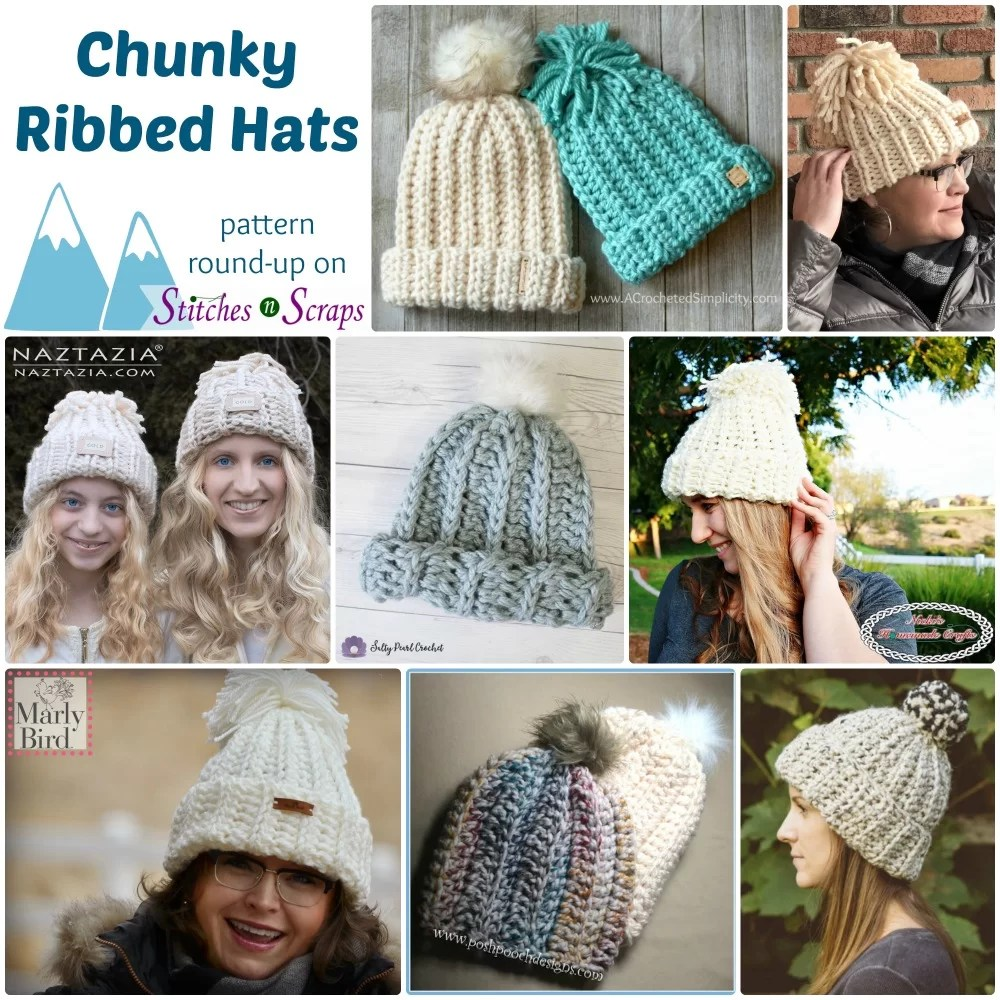 3b66eec70 Chunky Ribbed Hats - Pattern Round-Up