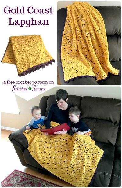 Free Pattern Gold Coast Lapghan Stitches N Scraps