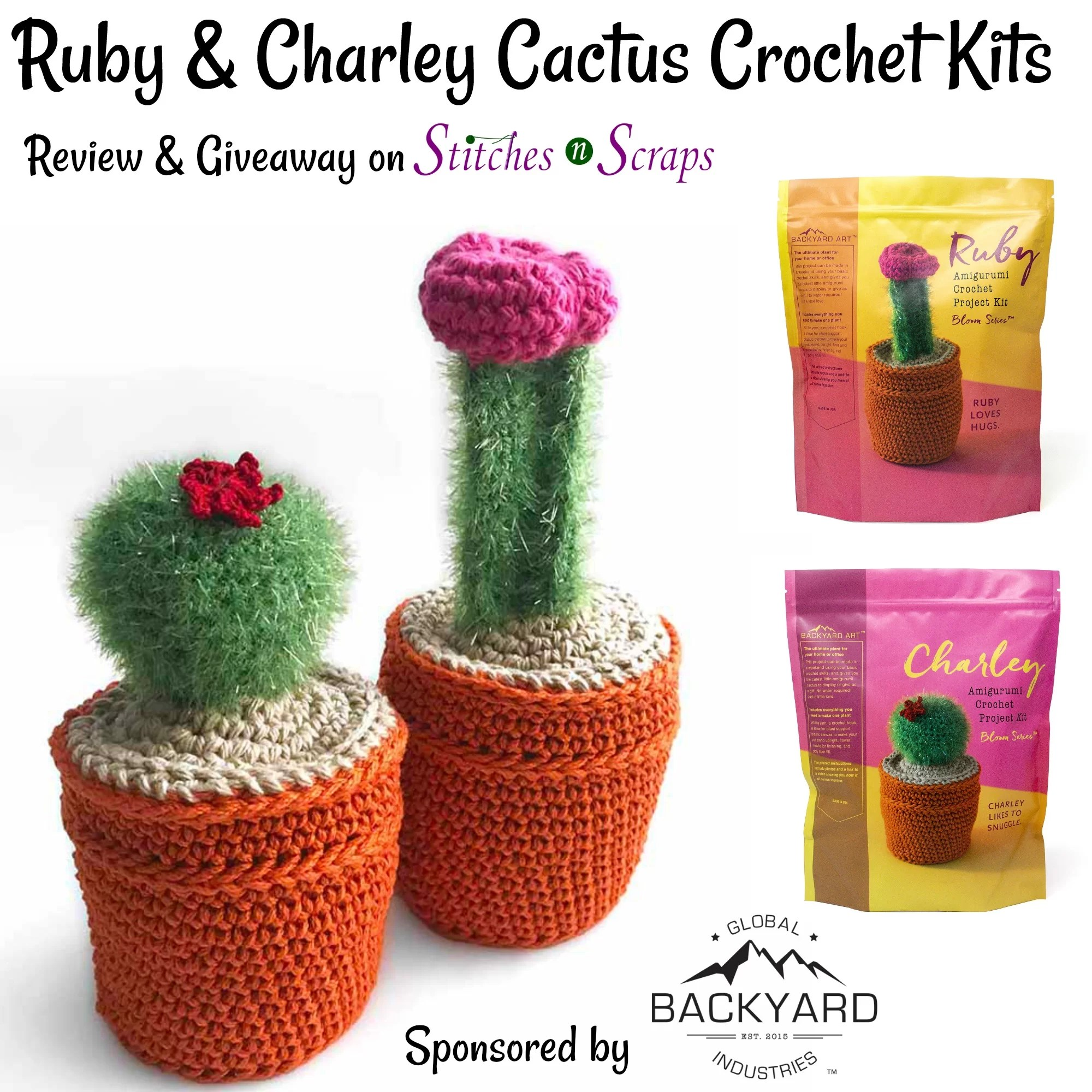 Amigurumi Cacti. Make these crochet bookends to decorate your home! | 2000x2000