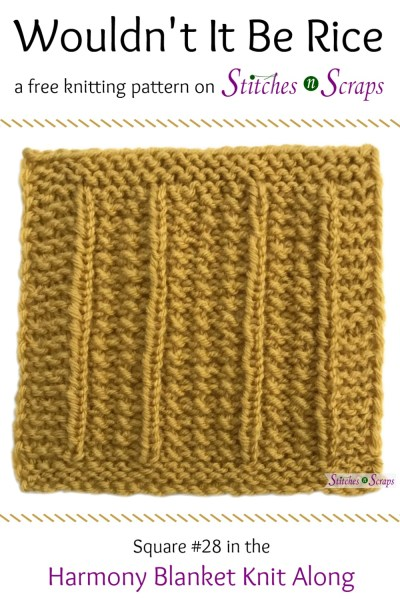 Free Pattern Wouldn T It Be Rice Harmony Blanket Square 28