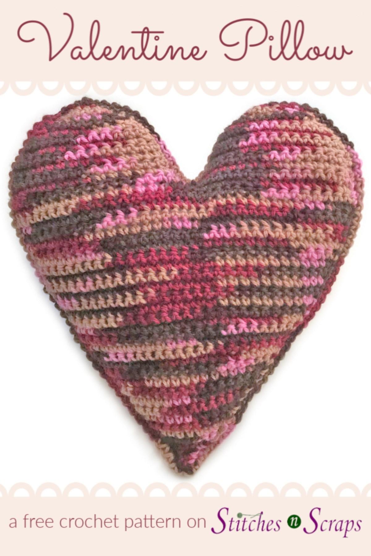 Free Pattern Valentine Pillow Stitches N Scraps
