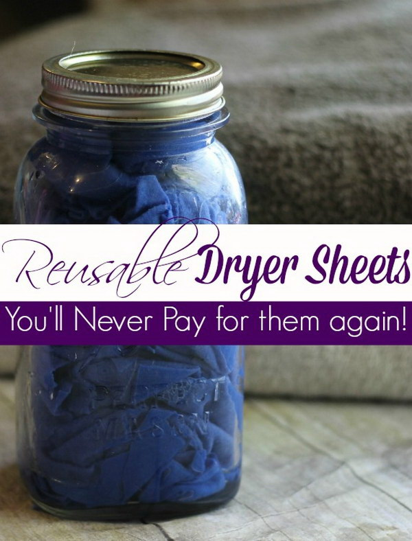 1 homemade dryer sheets - Homemade Dryer Sheets with Lots  of Tutorials
