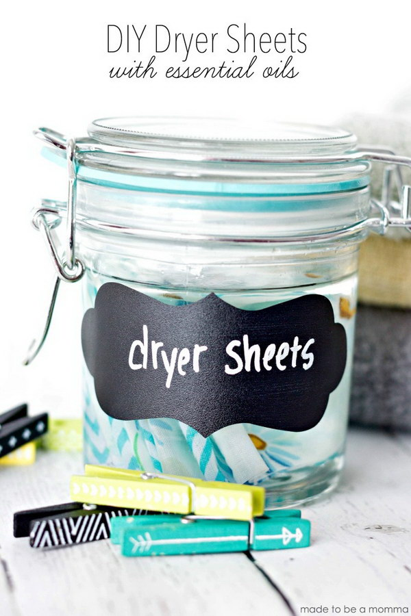 2 homemade dryer sheets - Homemade Dryer Sheets with Lots  of Tutorials