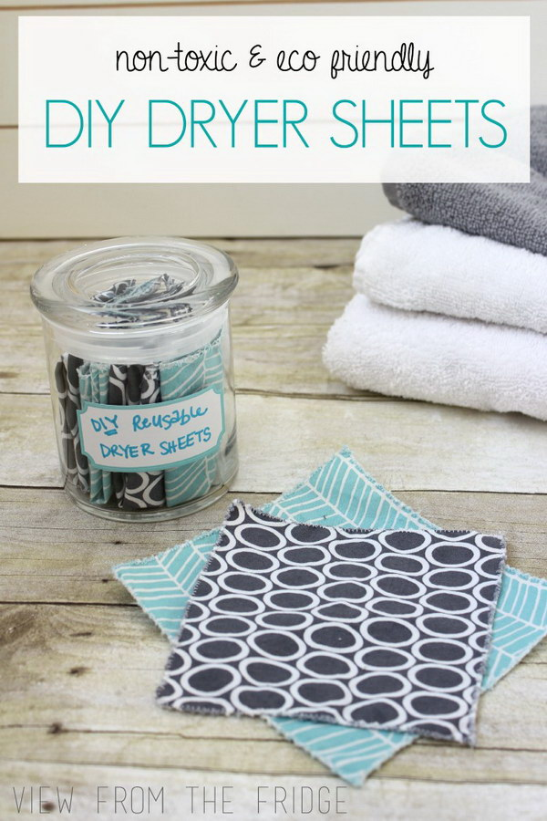 7 homemade dryer sheets - Homemade Dryer Sheets with Lots  of Tutorials